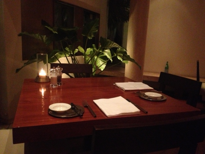 A quiet table at Biscotti