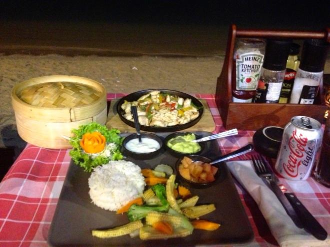 Dinner on the beach at The Seaside Steakhouse