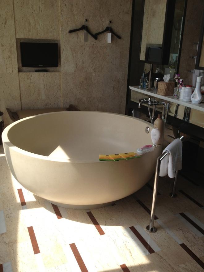 A most aesthetically pleasing bathtub
