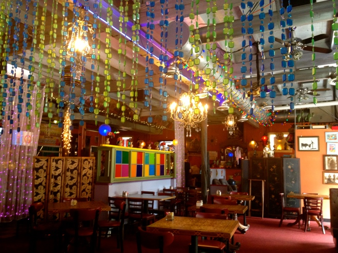 I love the colorful decor.