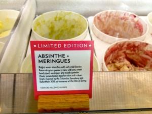 Absinthe Meringues Ice Cream at Jeni's Splendid Ice Creams.