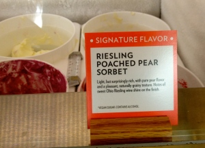 Riesling Poached Pear Sorbet at Jeni's Splendid Ice Creams.