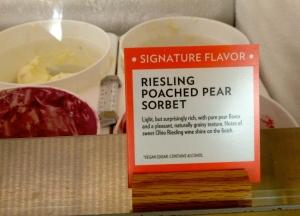 Riesling Poached Pear Sorbet at Jeni's Splendid Ice Creams.