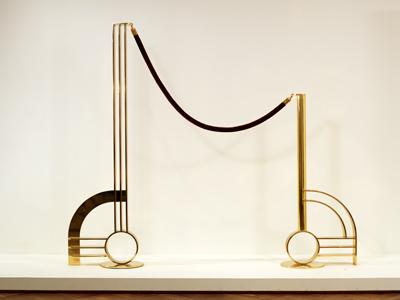 Modern Sculpture With Velvet Rope, 1968