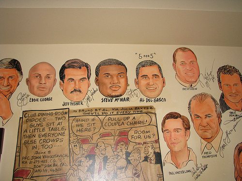 Some of the local celebrities who have visited The Palm.