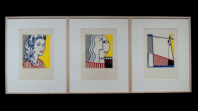 Portrait Triptych Study, 1974