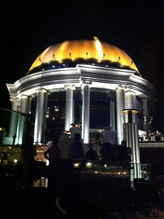 The Dome at Sky Bar, as taken from a table on the right side.