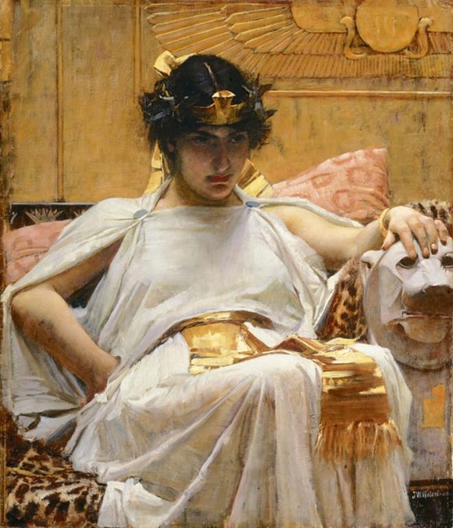 """Cleopatra"", John William Waterhouse, 1887."