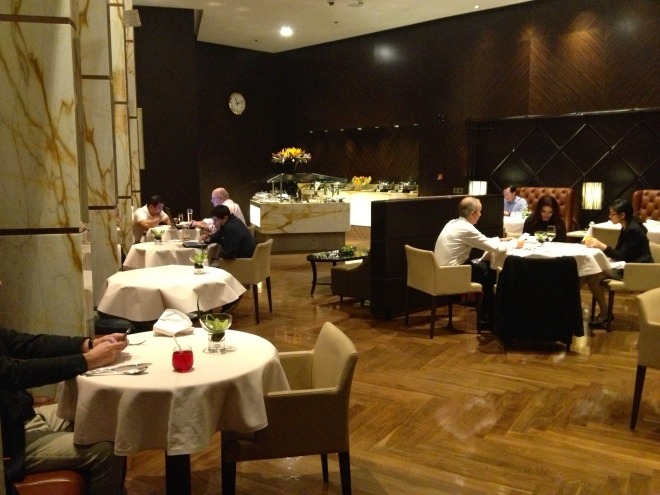 """In """"The Private Room's"""" restaurant"""