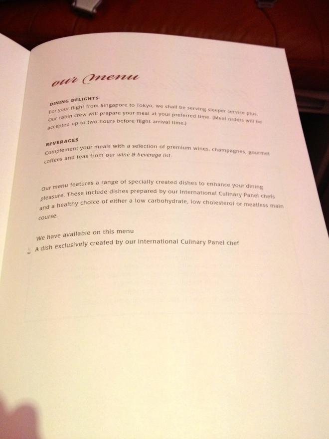More of the Suites menu.