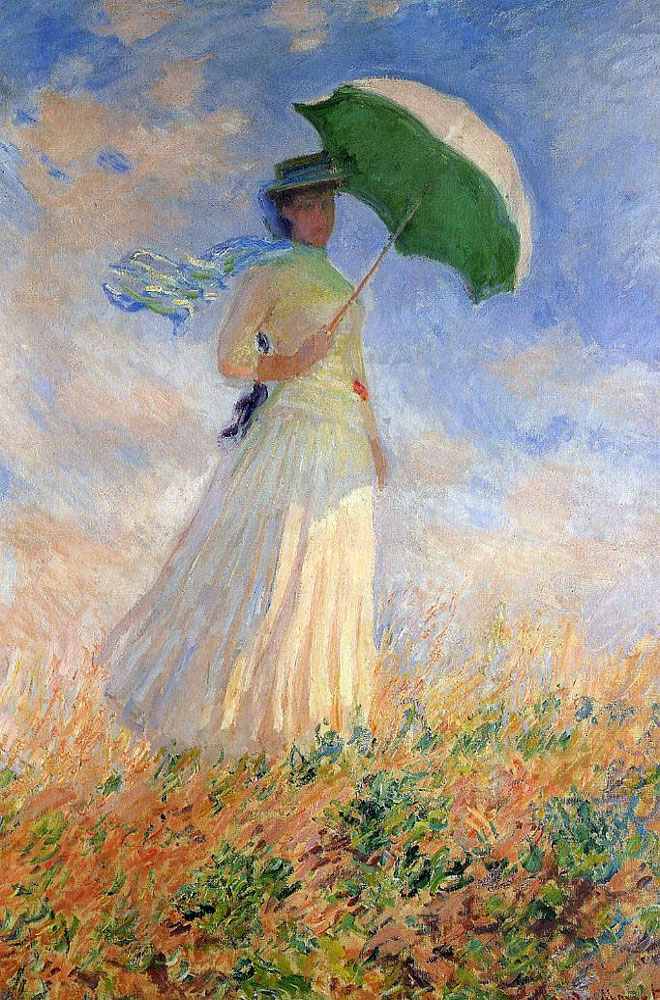 Woman With A Parasol Facing Right, Claude Monet, 1886.