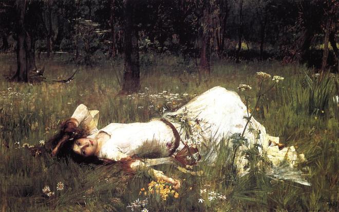Ophelia, James William Waterhouse, 1889.