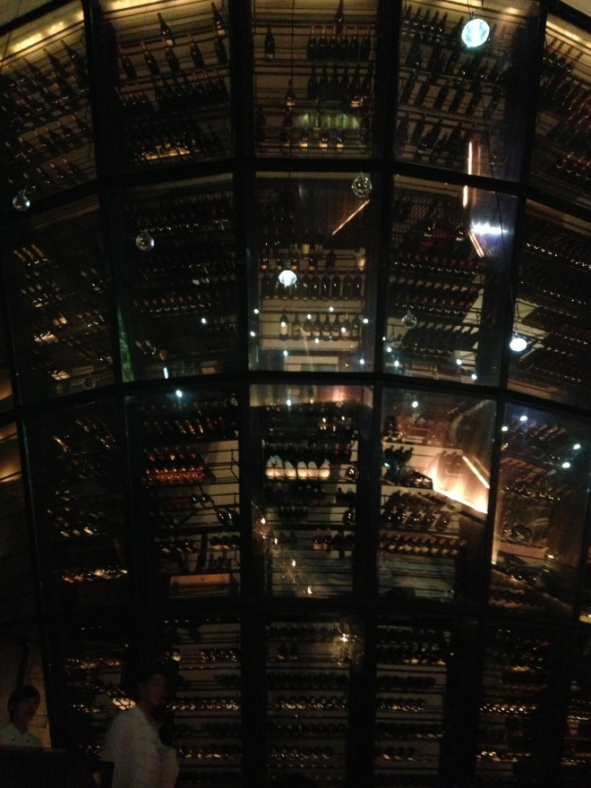 The wine cellar at Dazzle